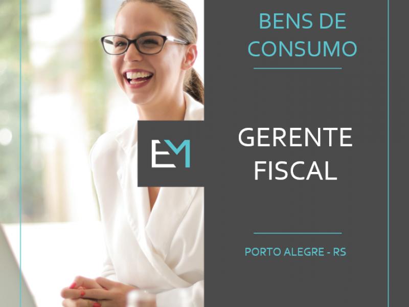 Vaga para Gerente Fiscal em Porto Alegre