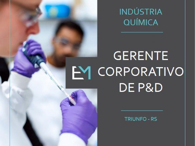 gerente corporativo de p&d - industria quimica - triunfo - evermonte