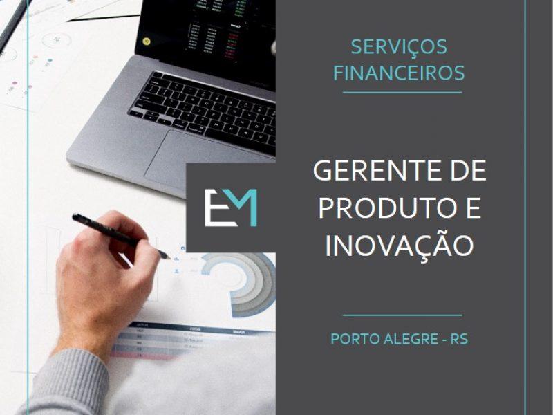 gerente produto e inovação